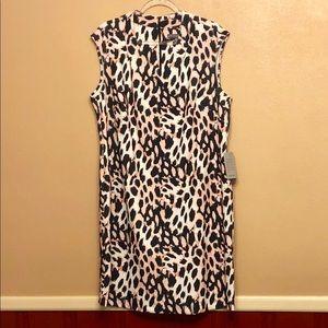 Sharagano Dresses - Sharagano size 16W sheath dress bold print NWT